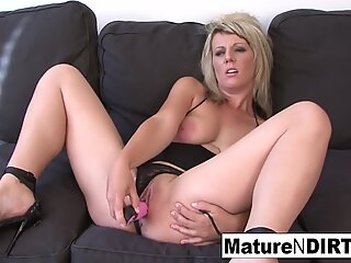Blonde mature is craving some hefty dark-hued penis in her ass