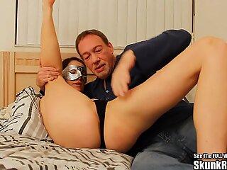 Thin Masked Wife Fucks Big Black Cock