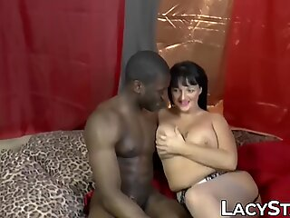 Photo shoot leads to interracial threesome with Lacey Starr
