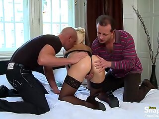Intense Dp Fuck for a Hot Blonde Milf