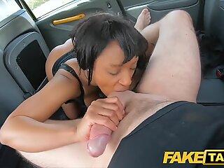 fake taxi black horny beauty Lola Marie tests cabbies stamina