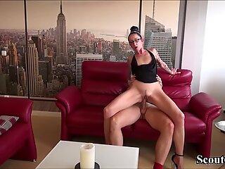 Bro Caught Skinny Step-Sister Masturbate and Seduce to Fuck
