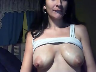 Latina saggy tied tits, pink nipples, sucked on for milk