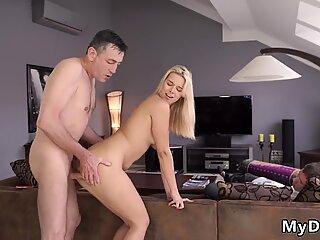 Teen jerk and cum Sleepy man missed how his father fucks his girlduddy