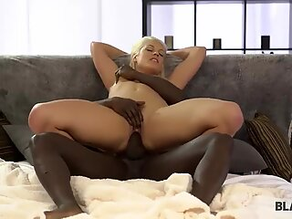 BLACK4K. Horny girl finds out that big cock is better than vibrator