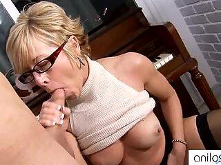 Horny granny seduces student