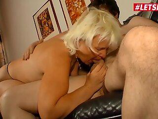 LETSDOEIT - Horny German Gilf Rides Her Nephew's Cock
