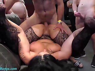 big boob tattooed german milf party banged