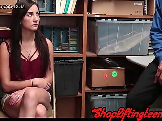 Real amateur riding dick after getting caught stealing