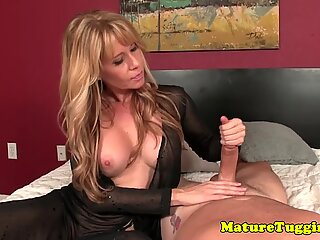 Busty cougar pov wanking dick