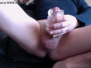 My solo 182 (Squat on couch hairy cock quickshot fuck n cum)