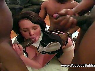 White bbw given anal by big black cocks