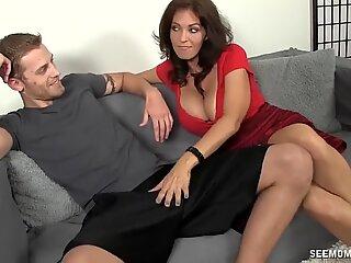 Hot milf sucks a young dick