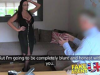 FakeAgentUK British chick with massive tits