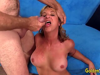 Mature Blonde Sky Haven Spreads for Cock